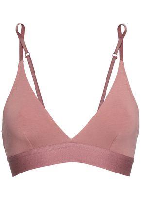 SKIN Stretch-cotton jersey soft-cup triangle bra