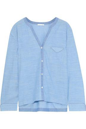 SKIN Jayne cotton-gauze pajama top