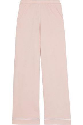 SKIN Pima cotton and modal-blend pajama pants