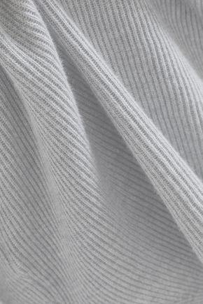 SKIN Veronica ribbed cotton-blend pajama top