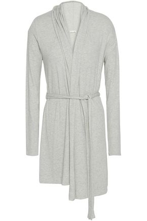 SKIN Ribbed jersey robe