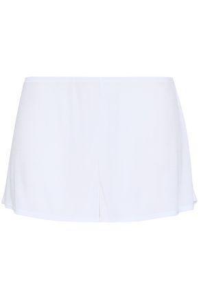 SKIN Ribbed stretch-modal pajama shorts