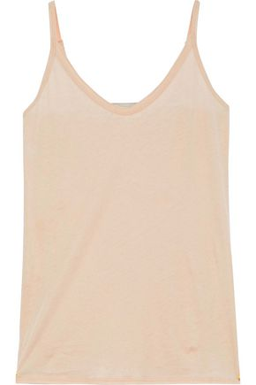 SKIN   Skin Woman Pima Cotton-jersey Camisole Neutral   Goxip