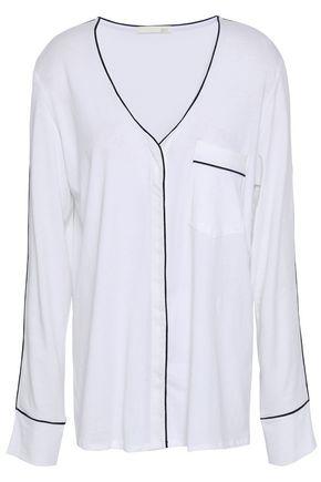 SKIN Pima cotton-jersey pajama top