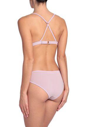 SKIN Stretch-cotton mesh triangle bra