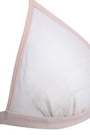 SKIN Stretch-cotton mesh soft-cup triangle bra