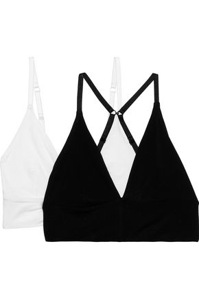 SKIN Helen set of two stretch-Pima cotton soft-cup triangle bras