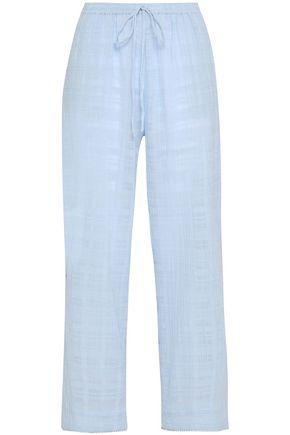 SKIN Crinkled-cotton pajama pants