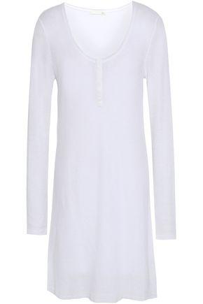 SKIN Waffle-knit cotton nightdress