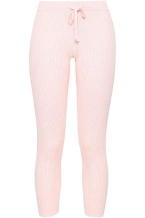 SKIN Vanya ribbed cotton-blend pajama pants