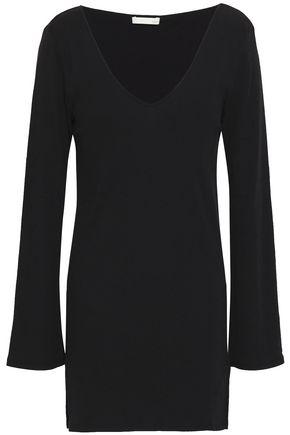 SKIN Ribbed Pima cotton-jersey nightshirt