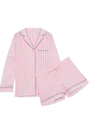 YOLKE Printed cotton-poplin pajama set