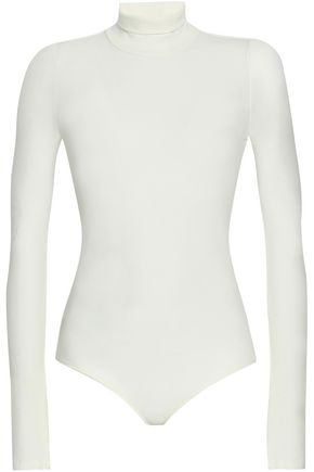 I.D. SARRIERI Ribbed Micro Modal-blend jersey turtleneck bodysuit