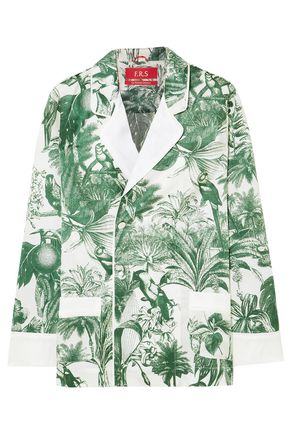 F.R.S. FOR RESTLESS SLEEPERS Philotes printed cotton and silk-blend twill shirt