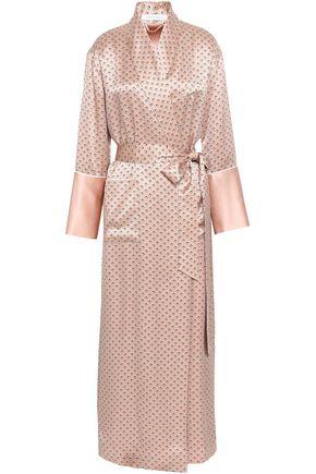 OLIVIA VON HALLE Printed silk-satin robe