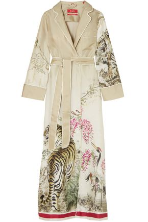 F.R.S. FOR RESTLESS SLEEPERS Roda printed silk-twill robe