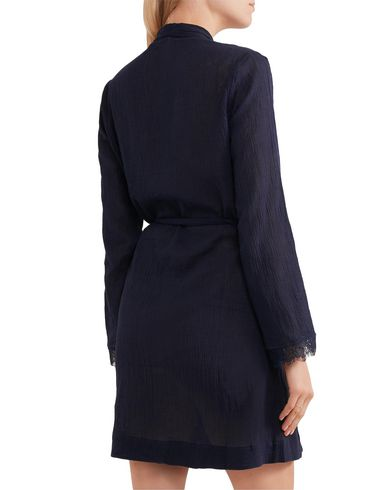 Фото 2 - Женский халат SKIN темно-синего цвета