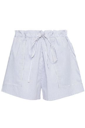 COMMANDO Striped cotton pajama shorts