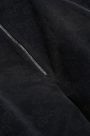 DOLCE & GABBANA Lace-paneled satin high-rise briefs