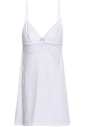 COSABELLA Lorena lace-trimmed cotton-blend jersey chemise