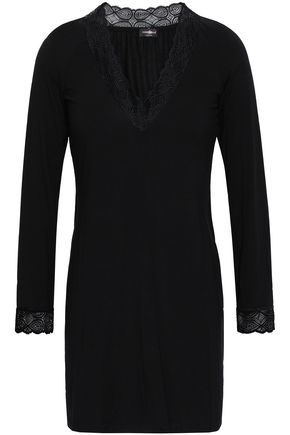 COSABELLA Lace-trimmed modal-blend jersey nightdress