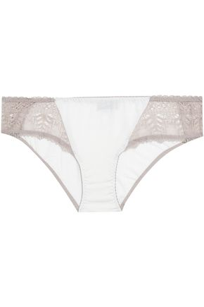 COSABELLA Bacall lace-paneled stretch-modal mid-rise briefs