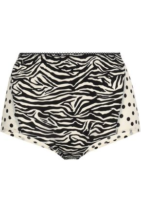 STELLA McCARTNEY Printed stretch-jersey high-rise briefs