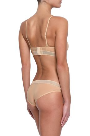 STELLA McCARTNEY Grace Glowing mesh-trimmed stretch-jersey low-rise briefs