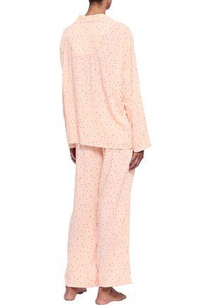 EBERJEY Floral-print satin pajamas