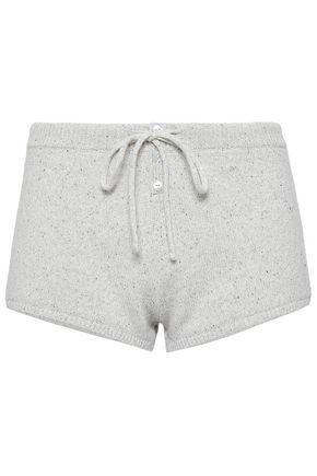 EBERJEY Marled knitted pajama shorts