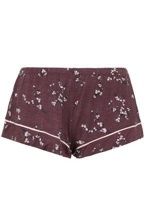 EBERJEY Daisy floral-print stretch-modal jersey pajama shorts