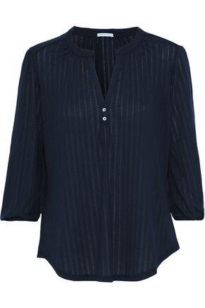 EBERJEY Baxter pointelle-knit pajama top