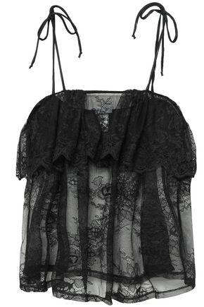 EBERJEY Ruffled lace camisole