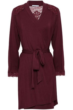 EBERJEY Lace-trimmed stretch-modal nightshirt