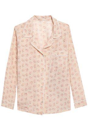EBERJEY Floral-print stretch-silk jersey pajamas