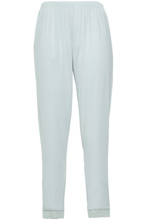 EBERJEY Elvia lace-trimmed stretch-modal pajama pants