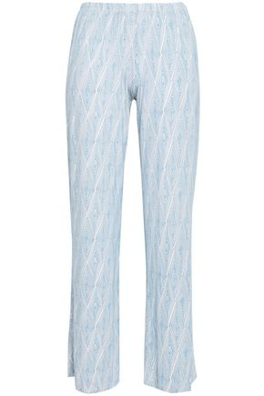 EBERJEY Daimond Maze printed stretch-modal pajama pants