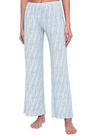 EBERJEY Daimond Maze printed stretch-modal pajama pants