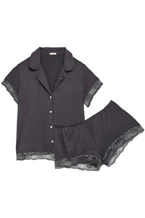 EBERJEY Noor lace-trimmed stretch-modal jersey pajama set