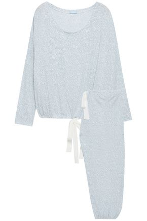 EBERJEY Mink Puff printed stretch-modal pajama set