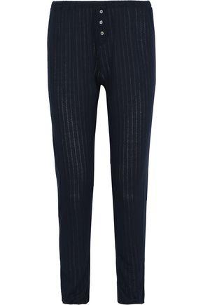 EBERJEY Baxter pointelle-knit pajama pants