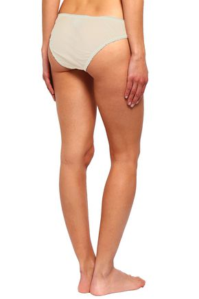 STELLA McCARTNEY Set of two embroidered cotton and silk-blend low-rise briefs