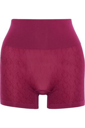 YUMMIE by HEATHER THOMSON Ultralight Seamless stretch-jacquard control shorts