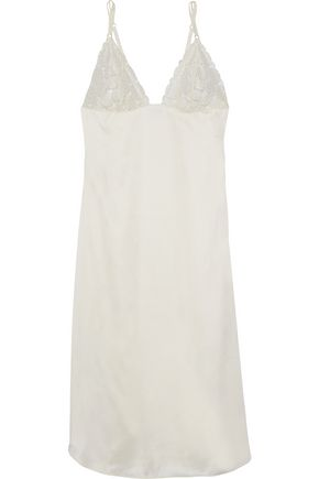 HEIDI KLUM INTIMATES Olivia Dawn lace-paneled satin nightdress