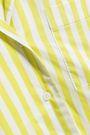 YOLKE Striped cotton-poplin pajama set
