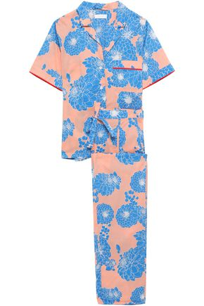 YOLKE Floral-print cotton-poplin pajama set