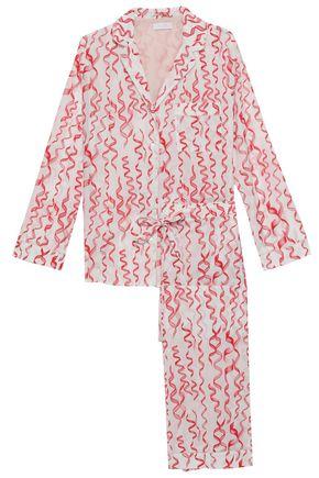 YOLKE | Yolke Printed Cotton-Poplin Pajama Set | Goxip