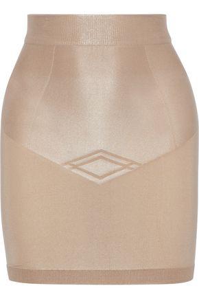 b4322b4381717 YUMMIE by HEATHER THOMSON Nouveau embossed stretch slip skirt