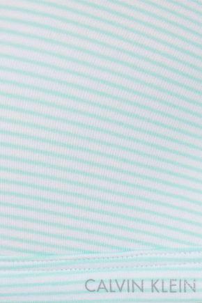 CALVIN KLEIN UNDERWEAR Striped stretch-cotton jersey soft-cup triangle bra