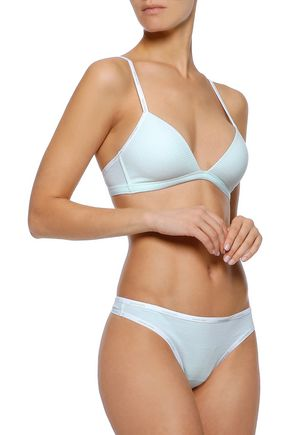 fee928d4fa CALVIN KLEIN UNDERWEAR Striped stretch-cotton jersey soft-cup triangle bra